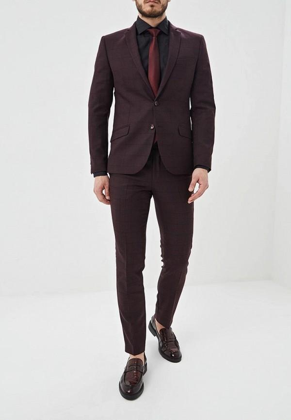 Фото 2 - Мужские брюки Bazioni бордового цвета