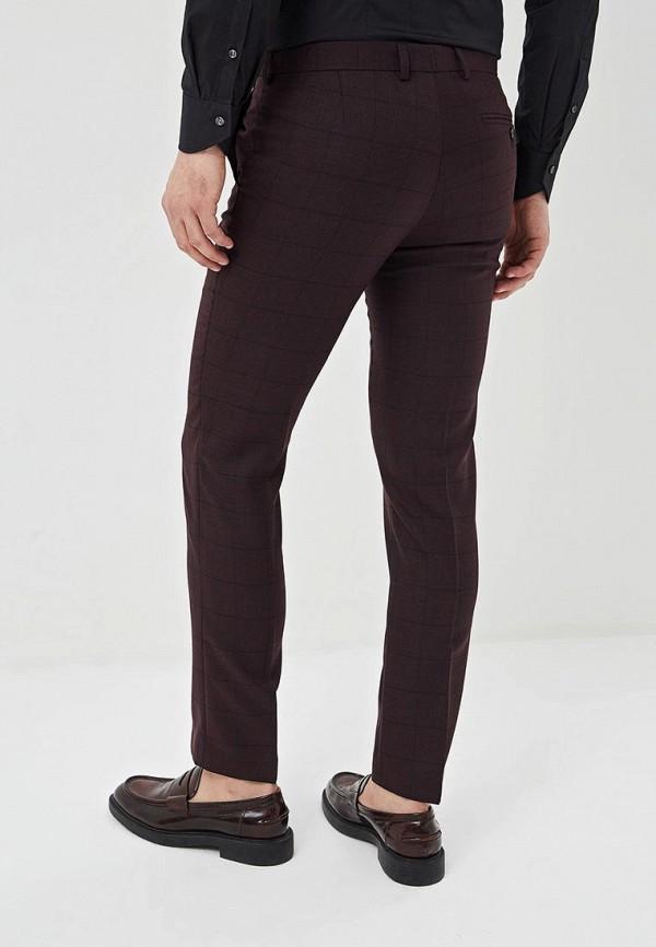Фото 3 - Мужские брюки Bazioni бордового цвета