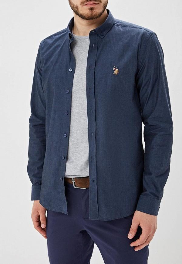 Фото - Мужскую рубашку U.S. Polo Assn. синего цвета