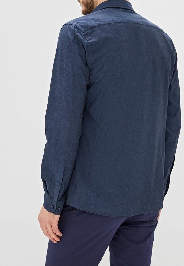 Фото 3 - Мужскую рубашку U.S. Polo Assn. синего цвета