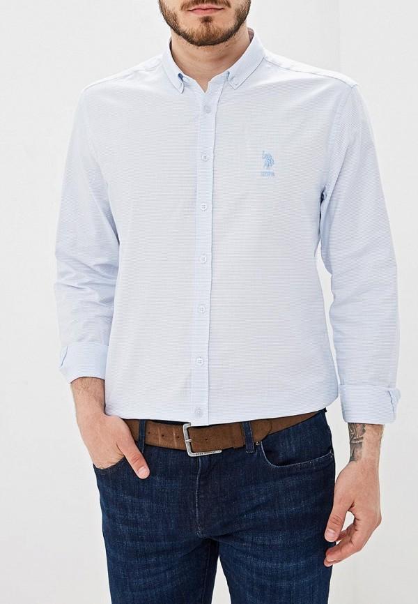 Фото - Мужскую рубашку U.S. Polo Assn. голубого цвета
