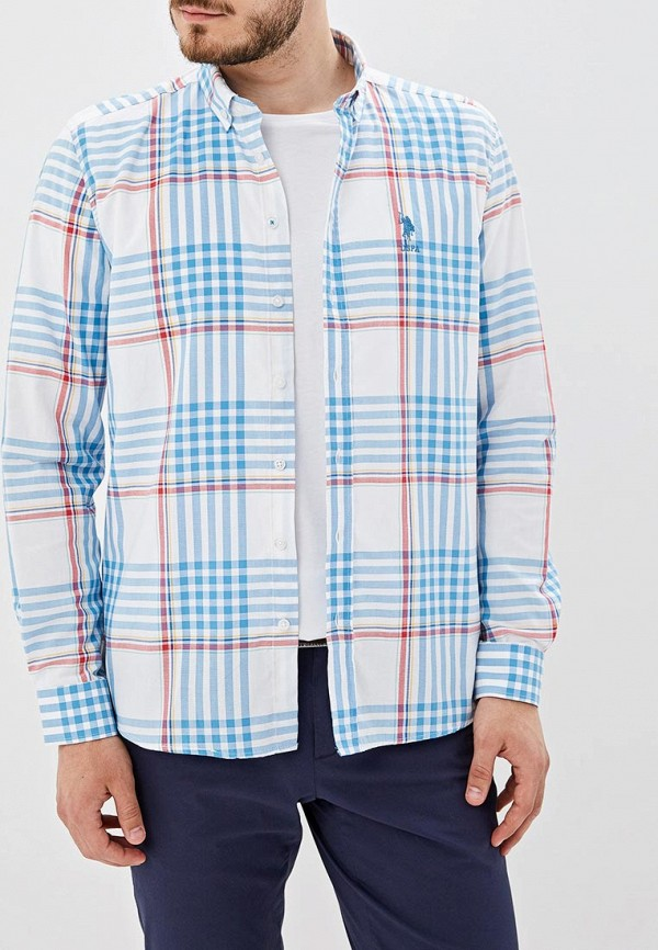 Фото - Мужскую рубашку U.S. Polo Assn. разноцветного цвета