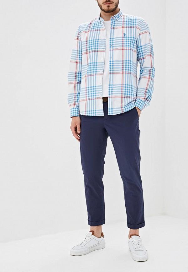 Фото 2 - Мужскую рубашку U.S. Polo Assn. голубого цвета