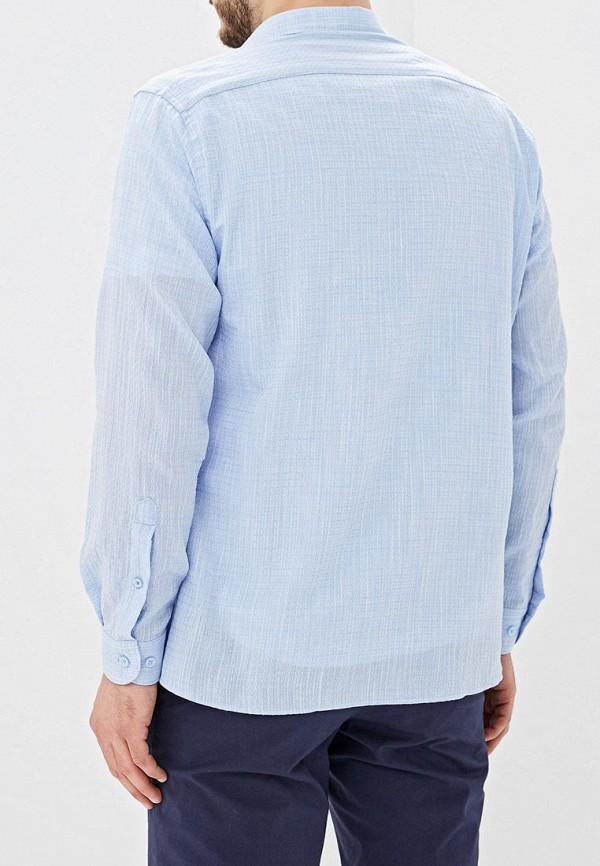 Фото 6 - Мужскую рубашку U.S. Polo Assn. голубого цвета
