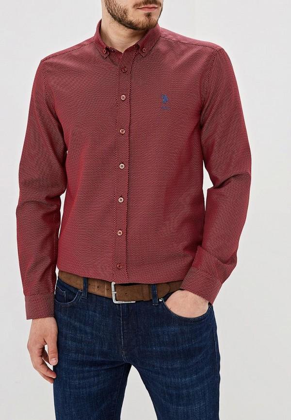 Фото - Мужскую рубашку U.S. Polo Assn. бордового цвета