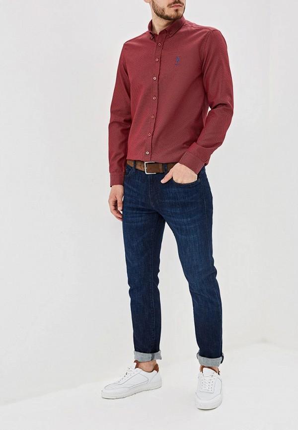 Фото 2 - Мужскую рубашку U.S. Polo Assn. бордового цвета