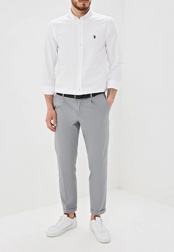 Фото 2 - Мужскую рубашку U.S. Polo Assn. белого цвета