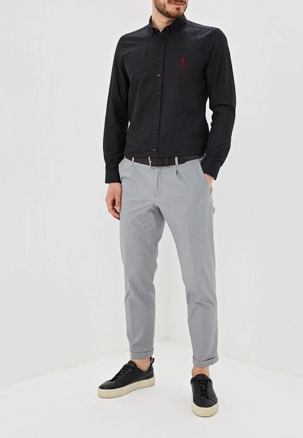 Фото 2 - Мужскую рубашку U.S. Polo Assn. черного цвета