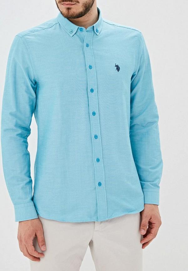 Фото - Мужскую рубашку U.S. Polo Assn. бирюзового цвета