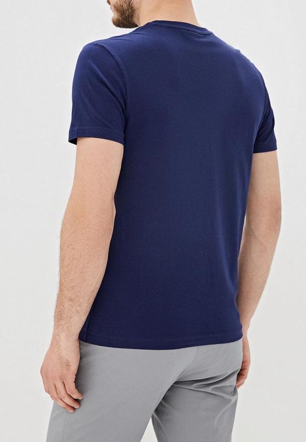 Фото 3 - Мужскую футболку U.S. Polo Assn. синего цвета