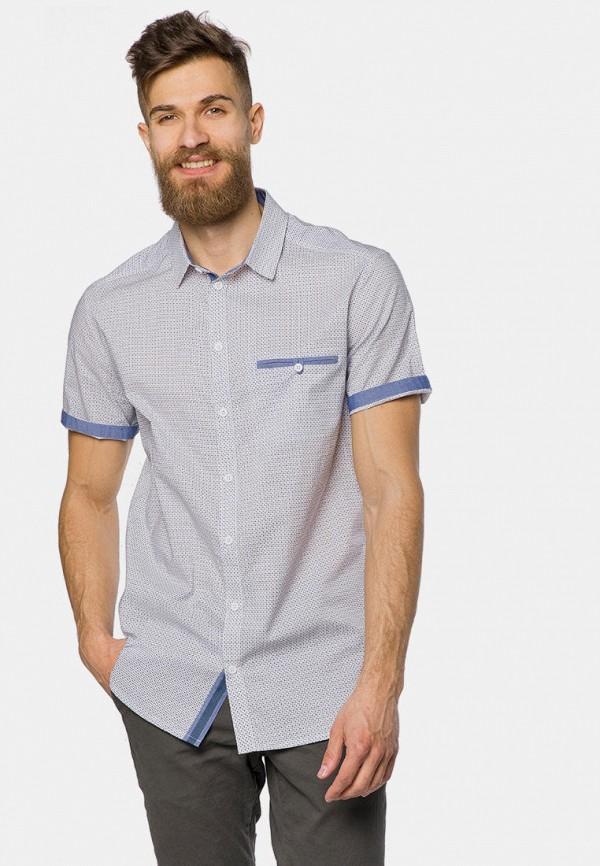 мужская рубашка с коротким рукавом mr520, голубая