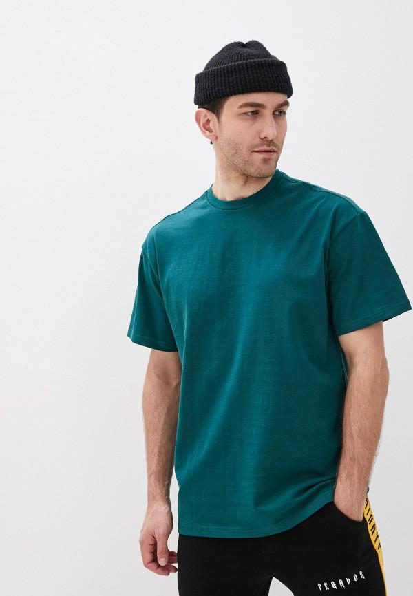 Фото - Мужскую футболку Befree бирюзового цвета