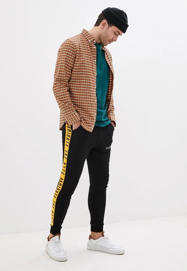 Фото 2 - Мужскую футболку Befree бирюзового цвета