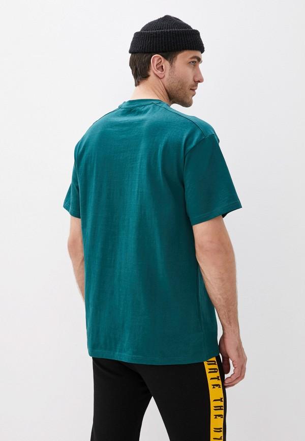 Фото 3 - Мужскую футболку Befree бирюзового цвета