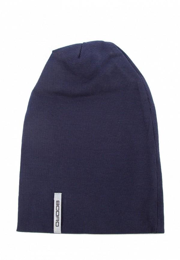мужская шапка bodro design, синяя