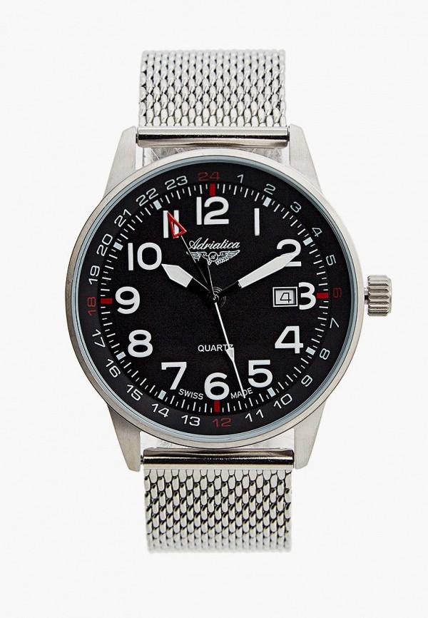 мужские часы adriatica, серебряные