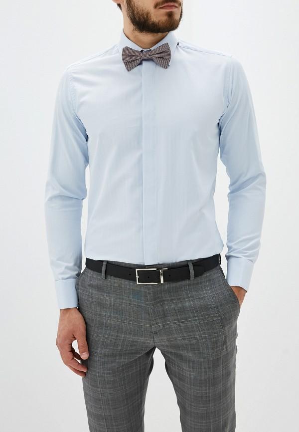 Купить Мужскую рубашку Karflorens голубого цвета