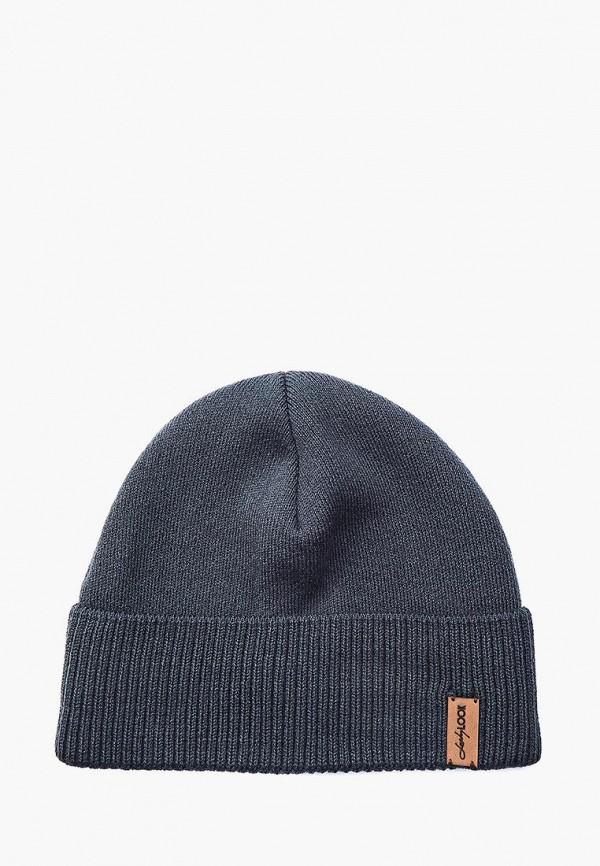 мужская шапка luckylook, серая