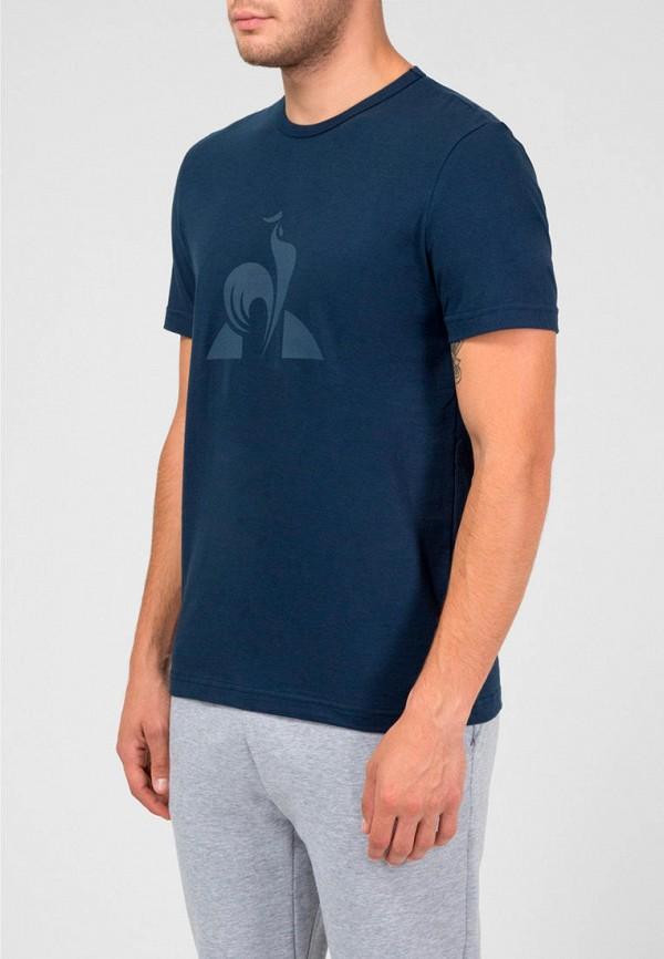 мужская футболка с коротким рукавом le coq sportif, синяя