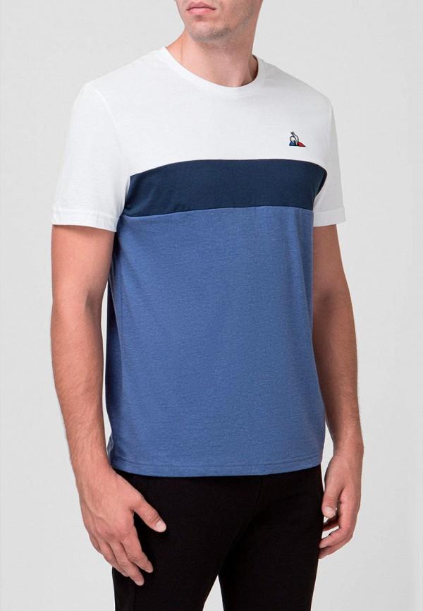 мужская футболка с коротким рукавом le coq sportif, голубая