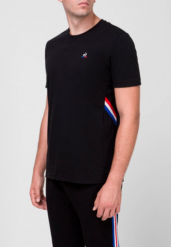 мужская футболка с коротким рукавом le coq sportif, черная