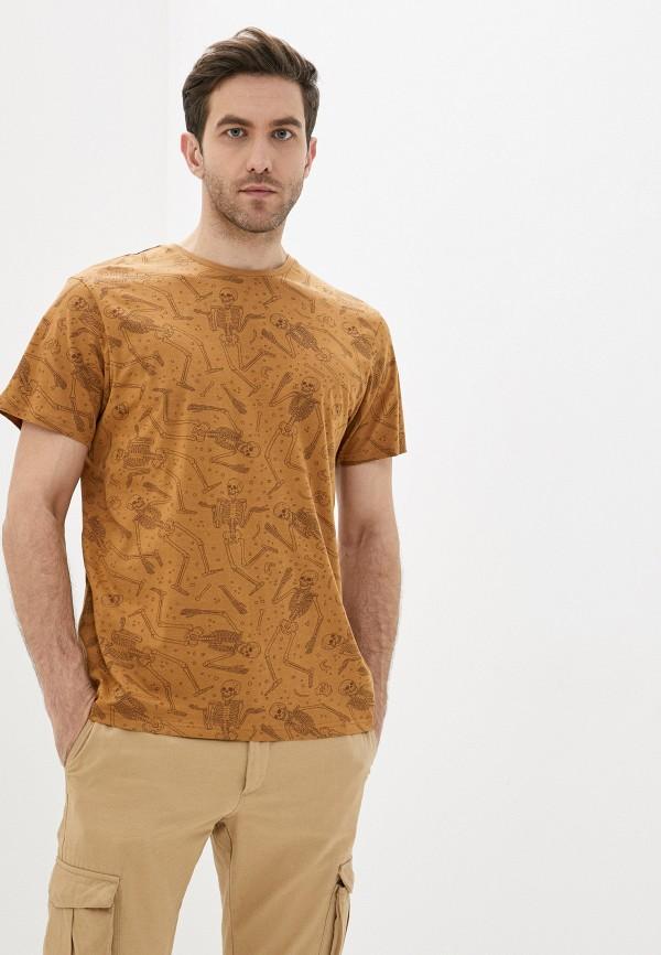 Фото - Мужскую футболку Befree коричневого цвета