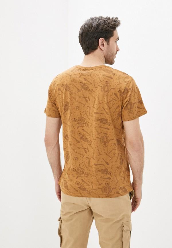 Фото 3 - Мужскую футболку Befree коричневого цвета