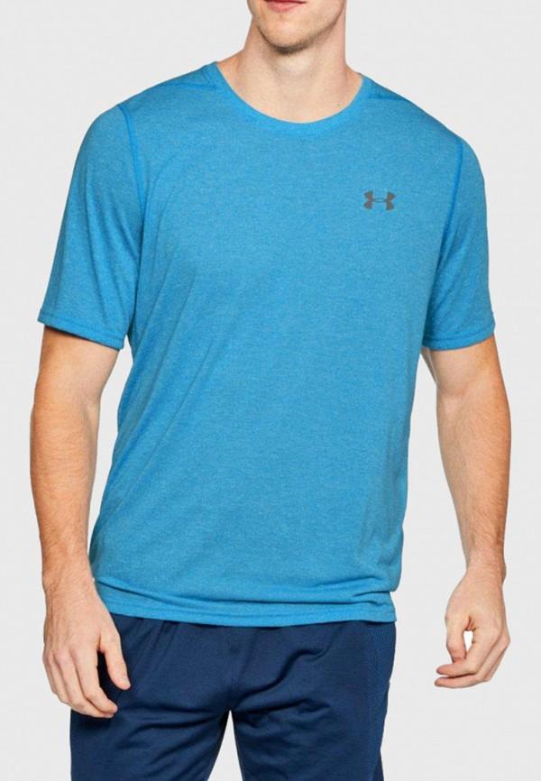 мужская спортивные футболка under armour, голубая