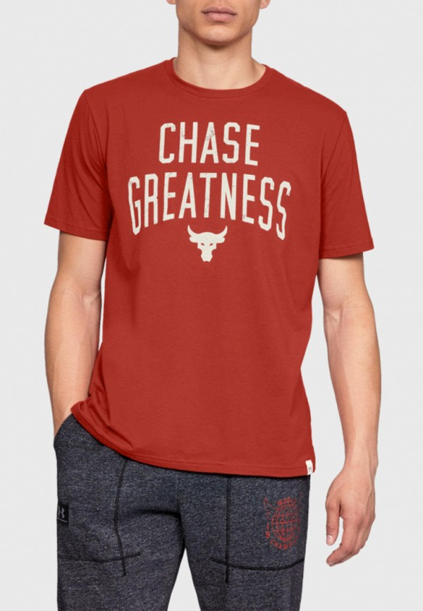 мужская спортивные футболка under armour, красная