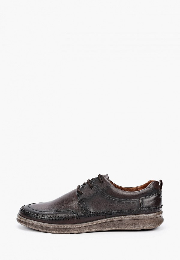 мужские туфли-дерби shoiberg, коричневые
