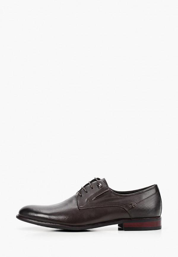 мужские туфли-дерби dino ricci, коричневые