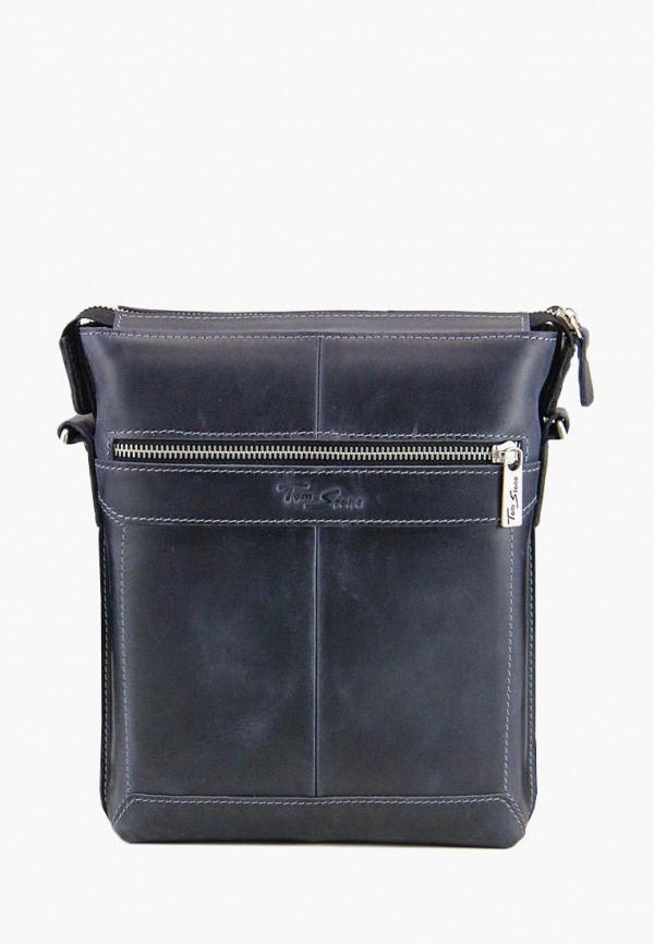 мужская сумка tom stone, синяя