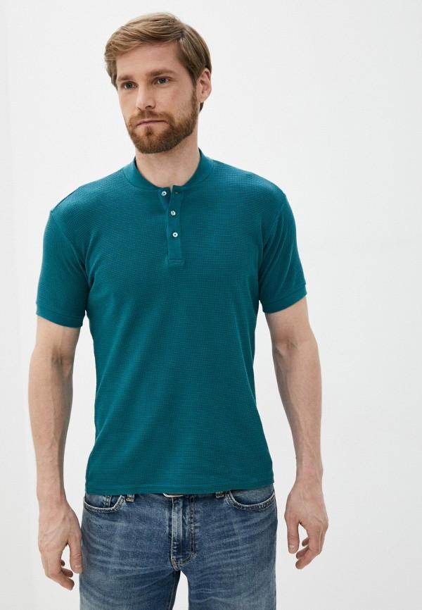 мужское поло с коротким рукавом al franco, зеленое