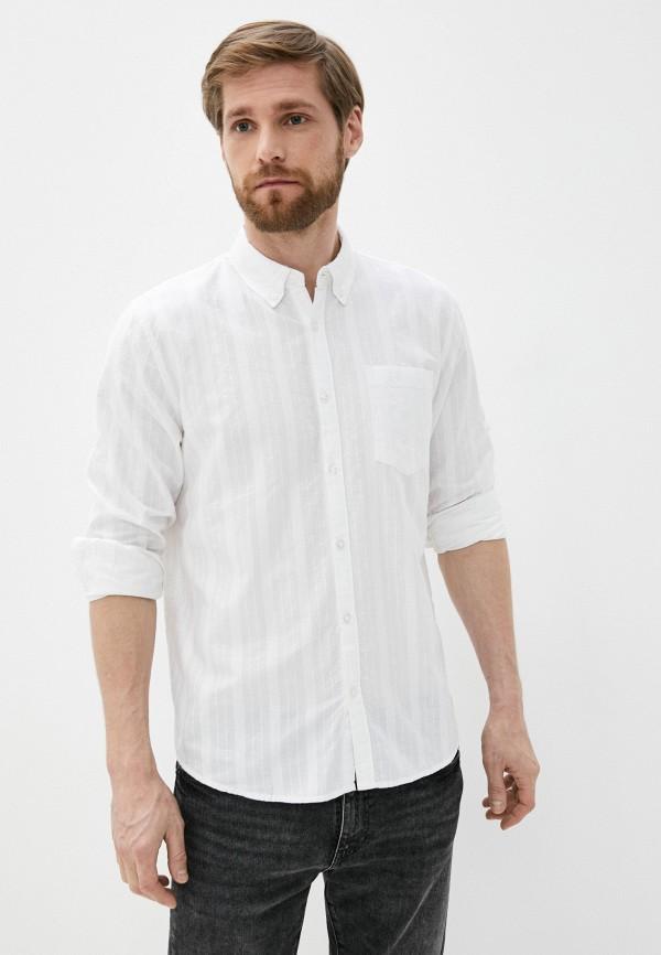 мужская рубашка с длинным рукавом al franco, белая