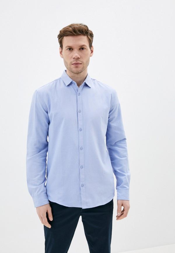мужская рубашка с длинным рукавом al franco, голубая