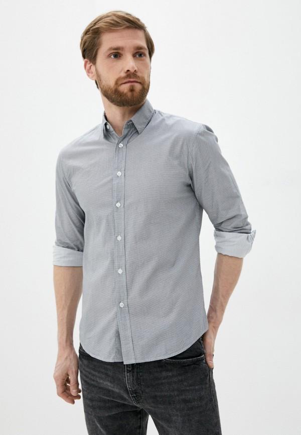 мужская рубашка с длинным рукавом al franco, серая