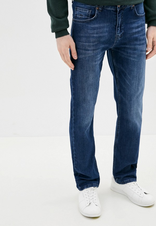 мужские прямые джинсы al franco, синие