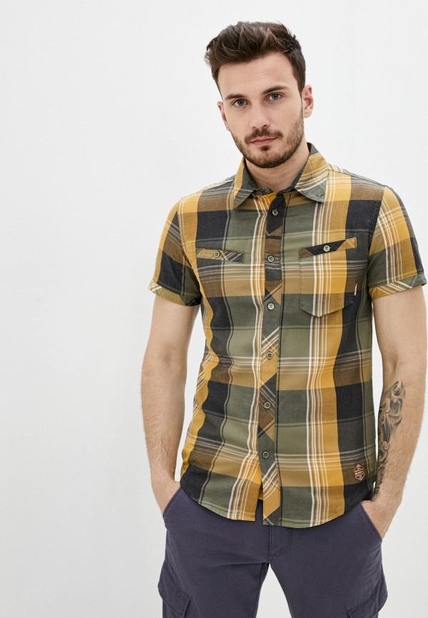 мужская рубашка с коротким рукавом merrell, хаки