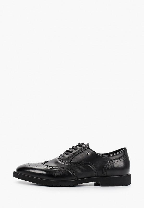 мужские туфли-оксфорды dino ricci select, черные