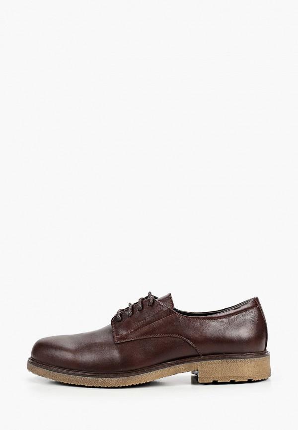 мужские туфли-дерби valley, коричневые