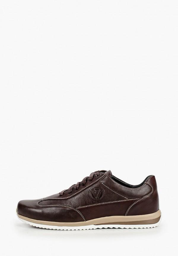 мужские низкие кроссовки valley, коричневые