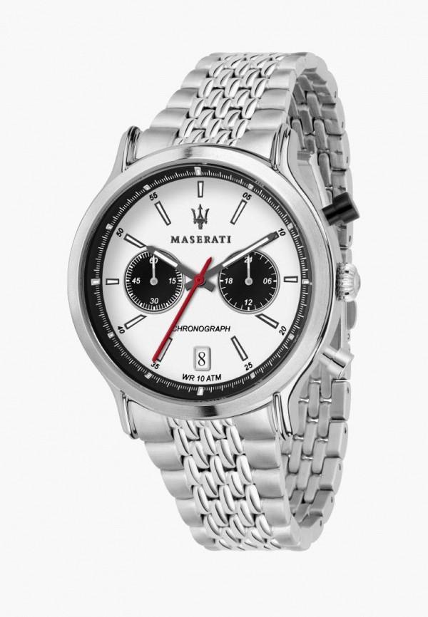мужские часы maserati, серебряные