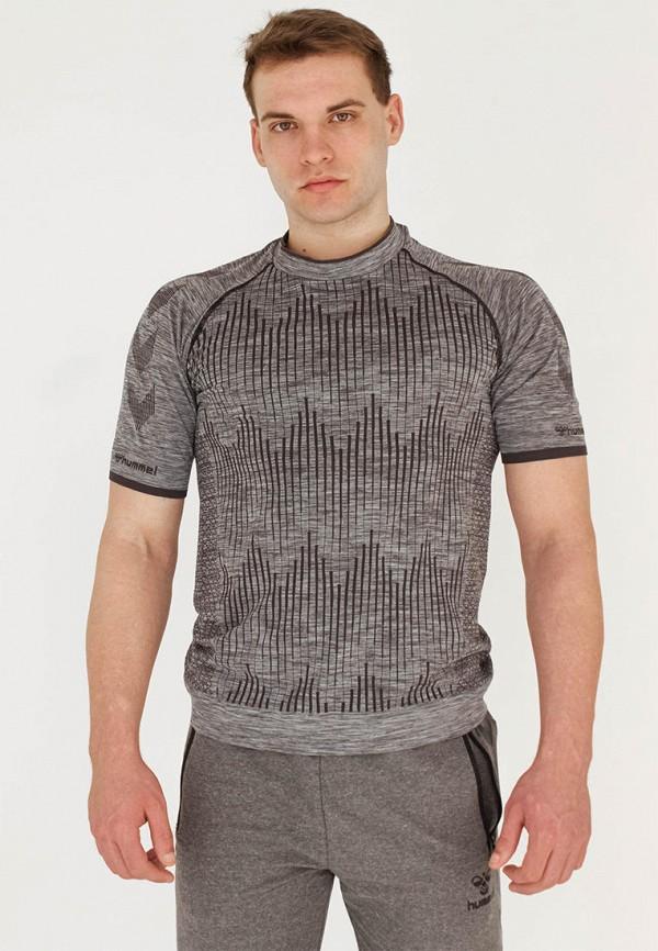 мужская спортивные футболка hummel, серая