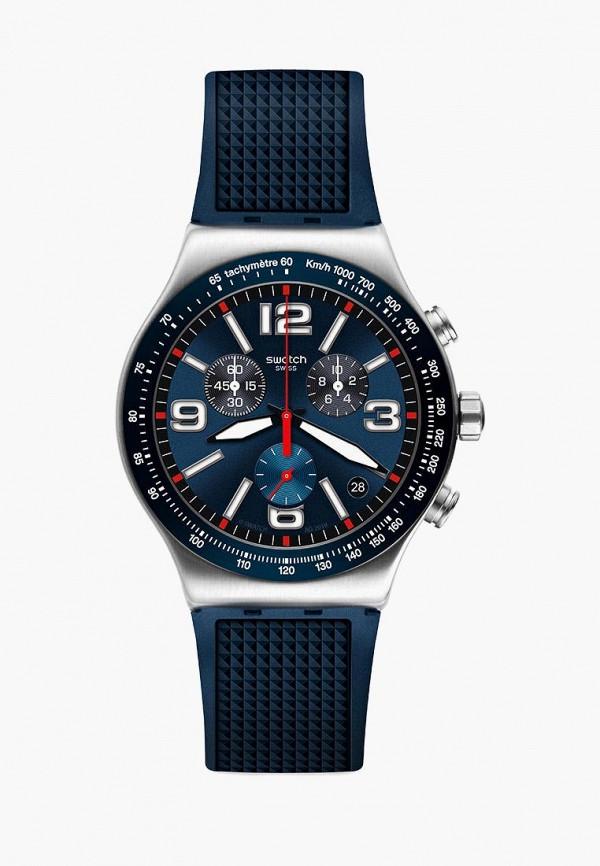 мужские часы swatch, синие