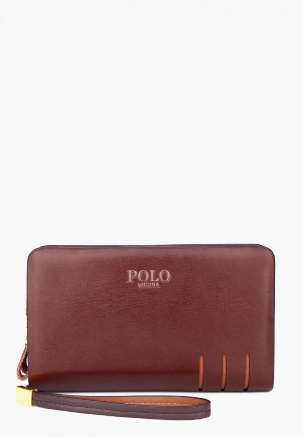 мужской кошелёк vicuna polo, коричневый
