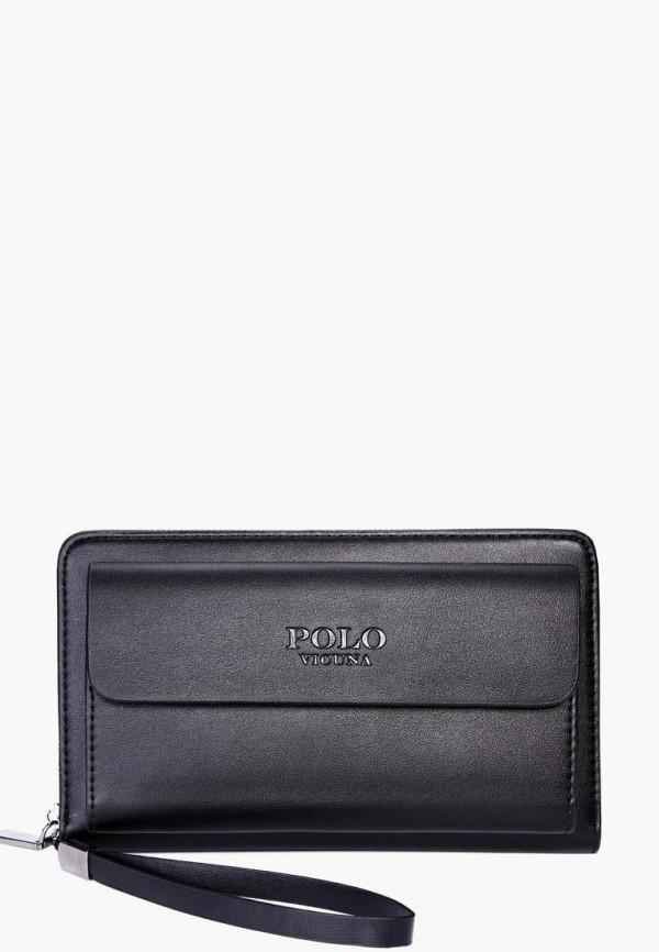 мужской кошелёк vicuna polo, черный