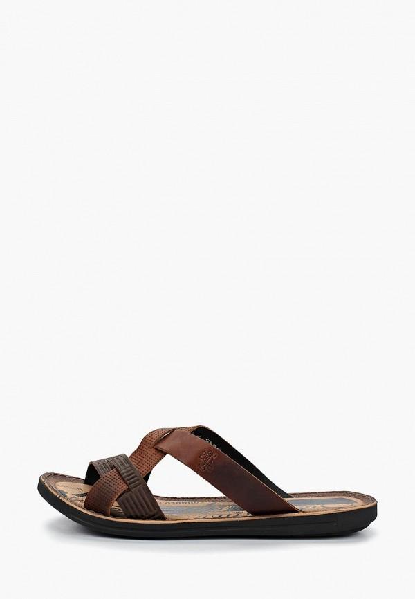 мужское сабо dino ricci, коричневое