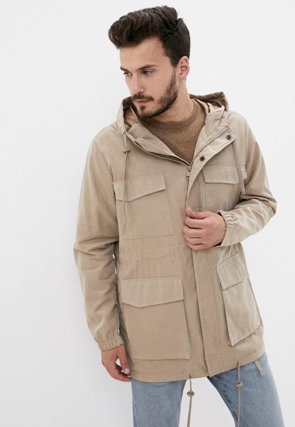 мужская куртка befree, бежевая