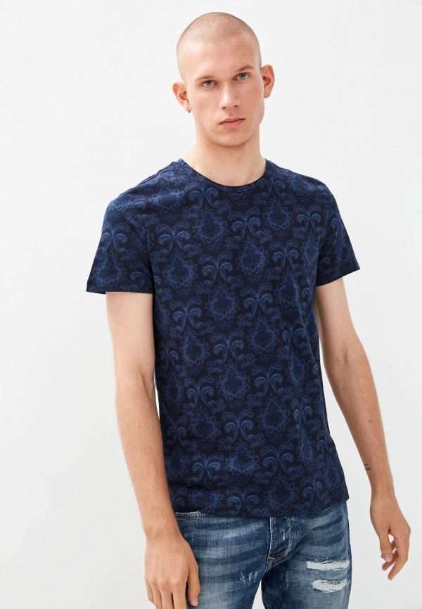 мужская футболка с коротким рукавом colin's, синяя