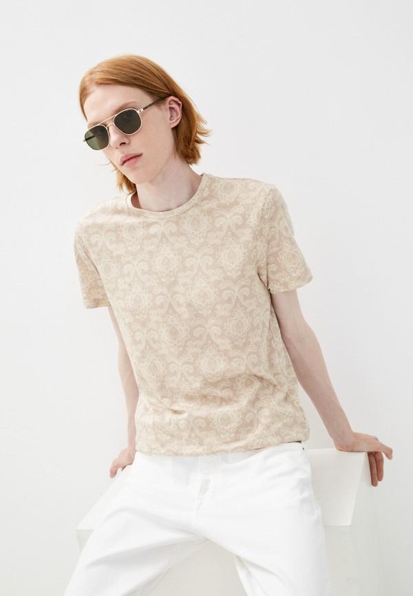 мужская футболка с коротким рукавом colin's, бежевая